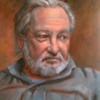 Portrait Painting of Man by Sussex Artist Colette Simeons