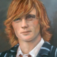 Painting of Young Man – Portrait Art by Colette Simeons