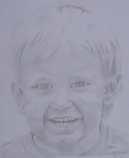 Portrait of Young Boy - Charlie Sexton - Portrait Artist - Jamie Sexton - Sussex Artists - Gallery