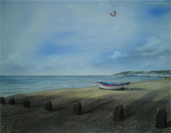 Red Arrows Beachy Head - East Sussex Artist - 'Fro' (Derek Froggatt) - Wannock Artists, East Sussex