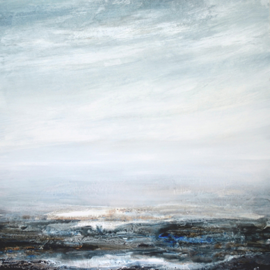 Sea Painting - Coastal Intervention - Leila Godden UA - East Sussex Coastal Artist - Sussex Artists Gallery