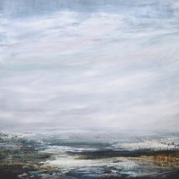 Seascape – Rose-Tinted Evening – Leila Godden – East Sussex Coastal Artist – Sussex Artists Gallery