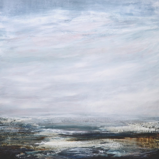Seascape - Rose-Tinted Evening - Leila Godden - East Sussex Coastal Artist - Gallery