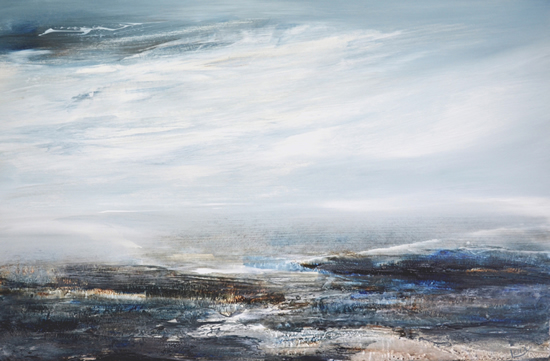 Seascape - Strata of Memory - Leila Godden - East Sussex Coastal Artist - Sussex Artists Gallery