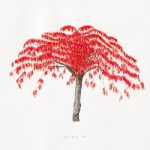 The Cherry Tree – Watercolour Painting – Patsy Dinc – Sussex Artists Gallery – Glass Painting and Watercolour Artist