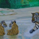 Tigers – Mum Worried about the Cubs – Horsham, West Sussex Artist – Roger Gasson