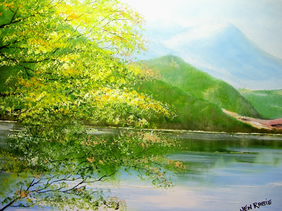 Ullswater Lake, Cumbria - Landscape Painting - Jenny Rabie - Crawley, West Sussex Artist - Sussex Artists Gallery