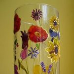 Vase of Flowers – Paint on Glass – Patsy Dinc – Sussex Artists Gallery – Glass Painting and Watercolour Artist