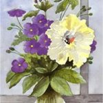 White Peony – Floral Art Prints – Sussex Artist – Audrey Laycock – Watercolour Gallery