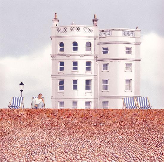 Deckchairs on Brighton Beach - East Sussex Art Gallery