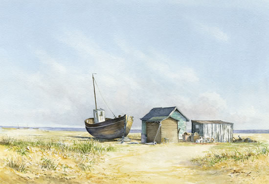 David Drury - Beached Boat - Sussex Art Gallery