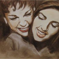 Liza Minnelli and Judy Garland Portrait