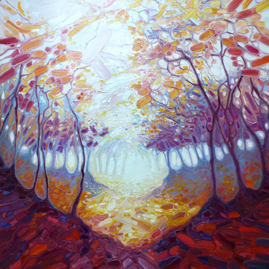 November in the Dryads Wood - East Sussex Artist Gill Bustamante