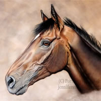 Portrait of Horse – Guns of Leros