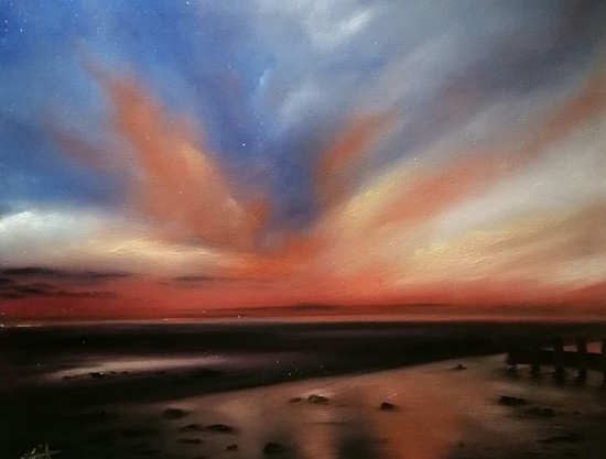 Sunset at East Preston, Arun, Sussex