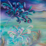 Daisy Oil Painting – Landscape by Claire Harrison – West Sussex Artist
