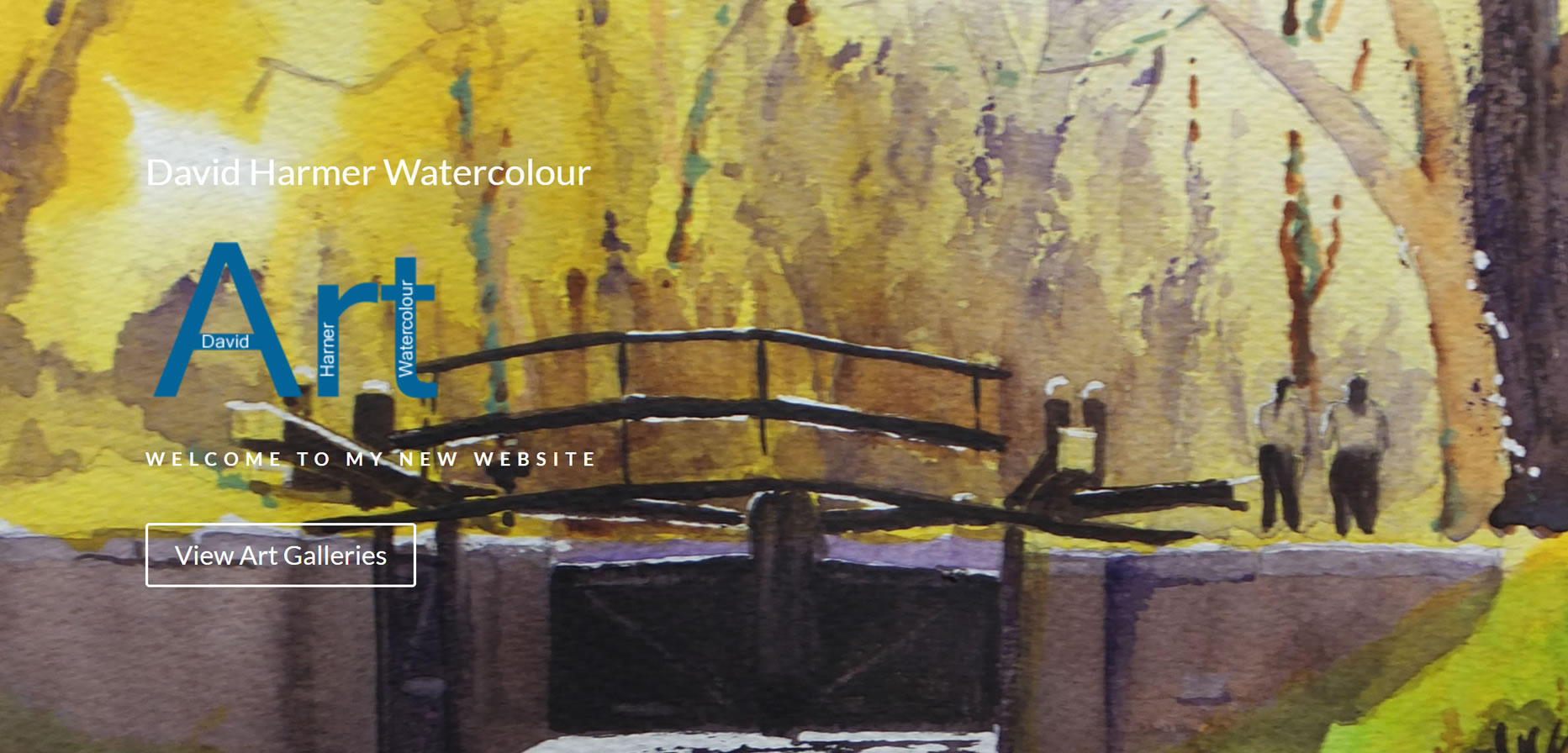 Art Website Builder - Sussex & Surrey Artists site for David Harmer Watercolour