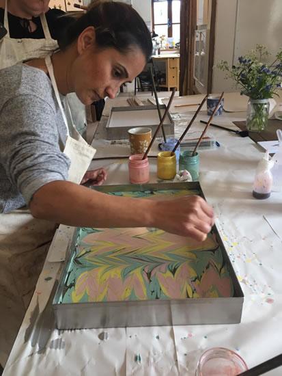 Marbling Workshops at Surrey Art School Newdigate Dorking