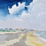 Pevensey Bay, East Sussex – Watercolour by Doug Myers – Surrey Artist