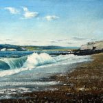 Seaford East Sussex 1974 – Before the beach shingle build-up – Seascape – Doug Myers