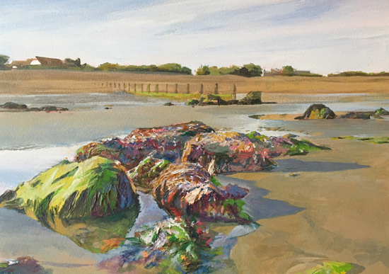 Bognor Rocks - Aldwick Beach - West Sussex Artist Glen Smith