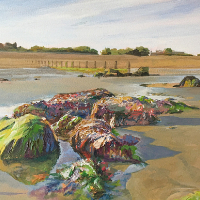 Bognor Rocks – Aldwick Beach – West Sussex Artist Glen Smith – Sussex Art Gallery