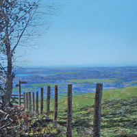 Goodwood Through The Fence – Chichester Artist Glen Smith – Sussex Art Gallery
