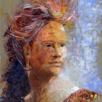 Portrait Carnival Head Study by Artist Michael Walsh