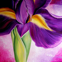 Iris Collage Flower Art by Tiffany Budd