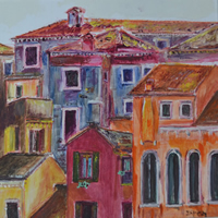 Mediterranean Vista Painting by Dipen Boghani