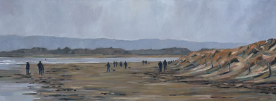 West Wittering Beach Sussex - Painting