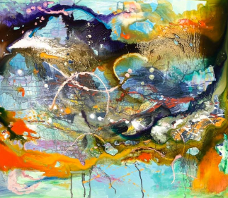 Abstract - Hampshire Art Gallery Acrylic and Ink - Jennifer Thorpe