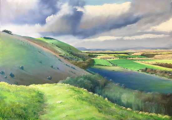 Devil's Dyke South Downs Sussex - Art Prints of Countryside View