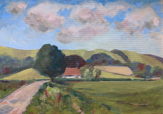 Didling Down Midhurst Landscape Painting - West Sussex Art Gallery