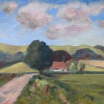 Didling Down Midhurst Landscape Painting – West Sussex Art Gallery