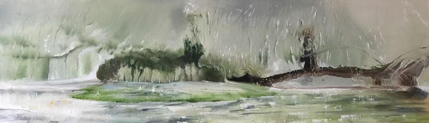 Forest Edge Oil Painting by East Sussex Fine Artist Carole Rupniak