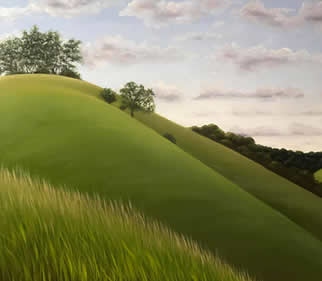 Harting Hill Painting - South Downs Way - West Sussex Landscape