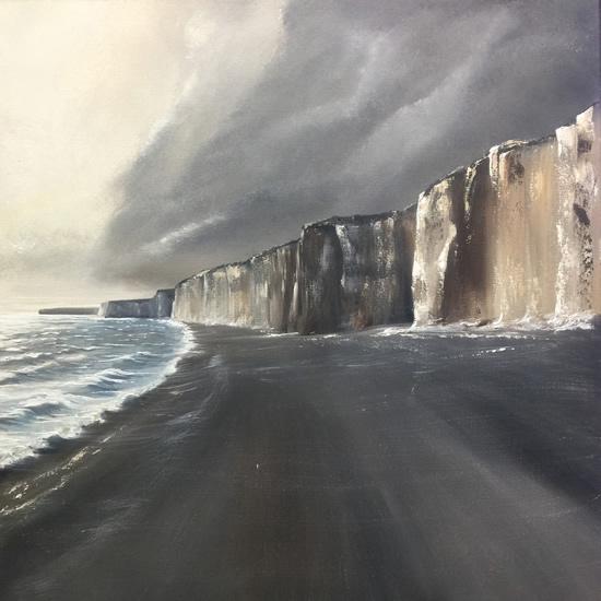 Jurrasic Coast Oil Painting - Devon Dorset Art Gallery