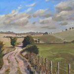 Lavant Down Chichester Landscape Painting – West Sussex Art Gallery