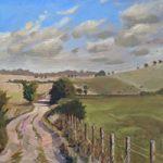 Lavant Down Chichester Landscape Painting – West Sussex Art Gallery