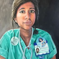 NHS Portraits for Heroes - Paintings by Sussex Artists to raise funds for NHS Charities Together