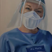 Portrait for NHS Heroes – ITU Nurse Grace – Sussex Hospital