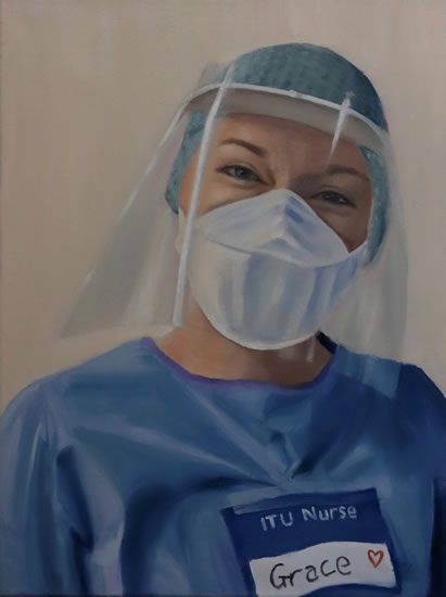 Portrait for NHS Heroes - ITU Nurse Grace - Sussex Hospital