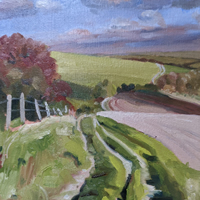 South Downs Way Landscape Painting – Blackcap and Ditchling Beacon – East Sussex Art Gallery