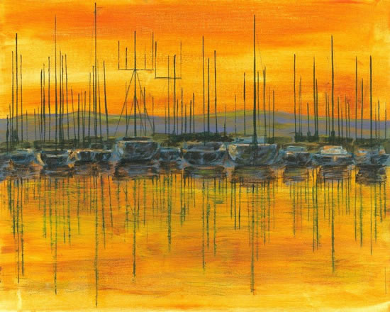 Sunset Harbour - Chichester West Sussex Art Prints