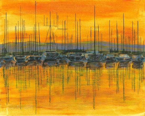 Sunset Harbour - Chichester West Sussex Art Prints