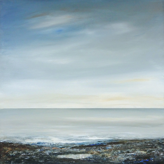 Calm Sea - The Pool - member of Free Painters and Sculptors Art Group - Leila Godden