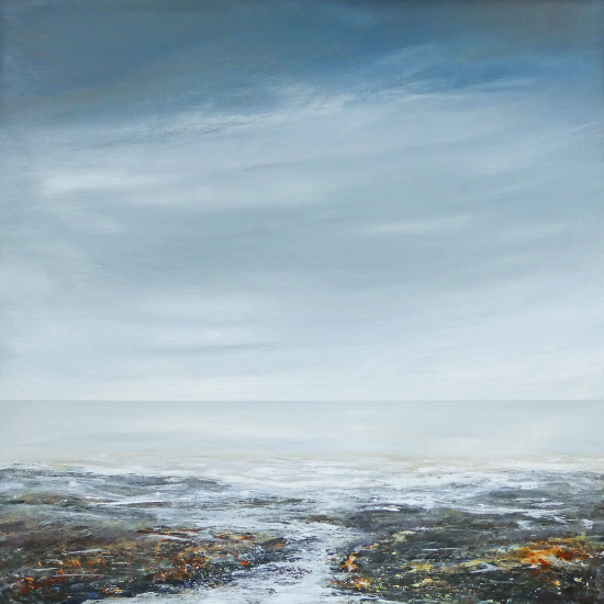 Incoming Tide - Seascape - Sussex Artists Gallery - Lewes Artist Leila Godden