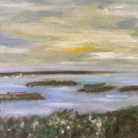 Seascape – Waiting for the Tide – Oil Painting by East Sussex Artist Sue Branch