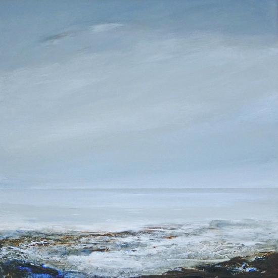 Waves - Cool Whisper - Coastal Artist Leila Godden from Lewes East Sussex